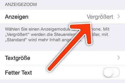 anzeige vergroessert - Homescreen dreht nicht bei iPhone 6 Plus