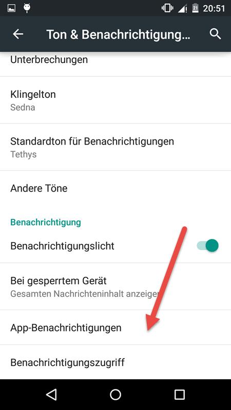 app benachrichtigungen - Benachrichtigung von App deaktivieren bei Android