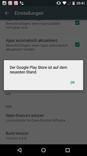 google play store - Google Play Store aktualisieren – Updates Prüfen