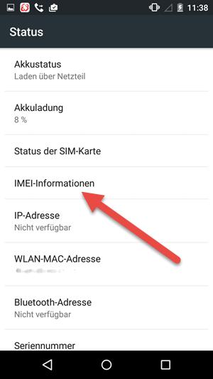 imei informationen - IMEI und Seriennummer herausfinden unter Android