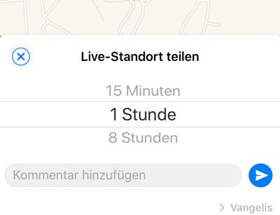 Live-Standort teilen mit iPhone
