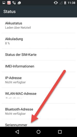 seriennummer - IMEI und Seriennummer herausfinden unter Android