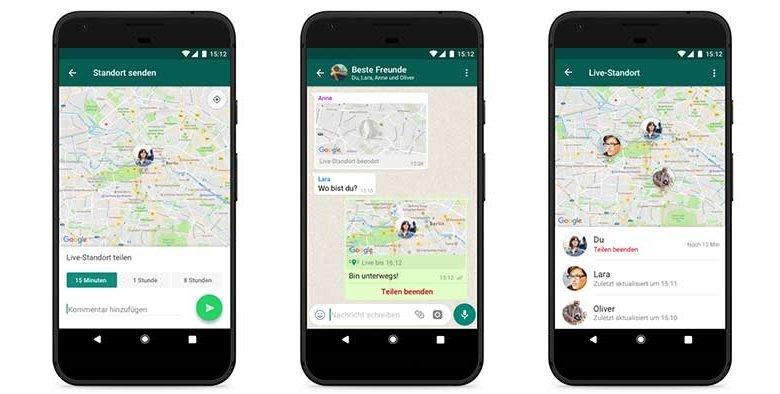 standort live teilen 780x394 - Live-Standort teilen – neue Funktion bei WhatsApp – so geht's
