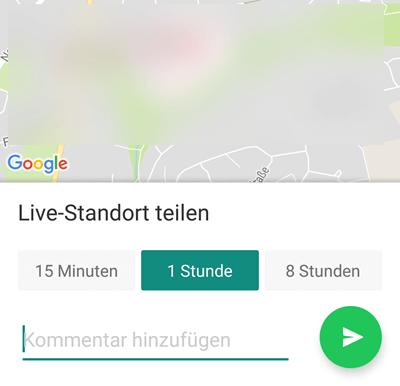 Standort live teilen Android