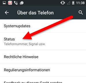 status - IMEI und Seriennummer herausfinden unter Android