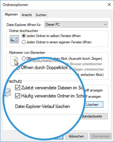Zuletzt verwendet Datei in Windows Explorer loeschen zuletzt-verwendet-datei-in-windows-explorer-loeschen