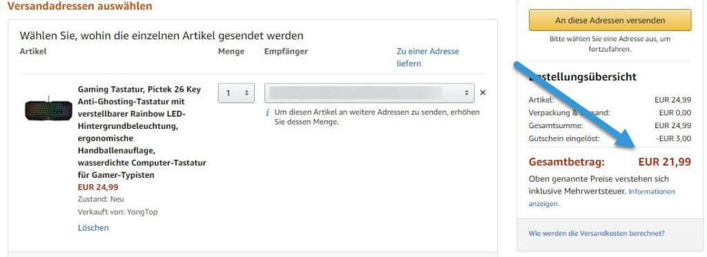 amazon rabatt 1024x373 - Gaming-Tastatur von PICTEK für 21.99 € - Top Preis
