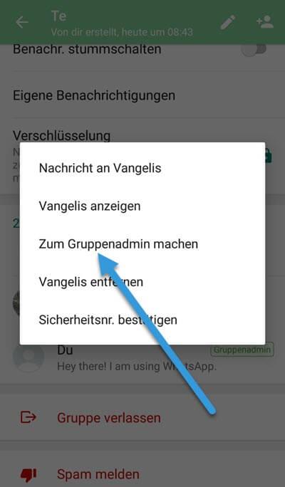 Gruppenadmin machen Whatsapp Android