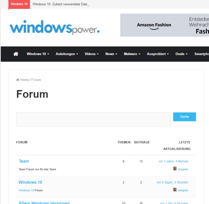 windowspower.de Forum