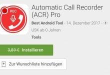 automatic call recorder 220x150 - Automatic Call Recorder (ACR) Pro – Android Kostenlos statt 3,89€