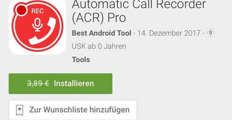 automatic call recorder 780x405 - Automatic Call Recorder (ACR) Pro – Android Kostenlos statt 3,89€