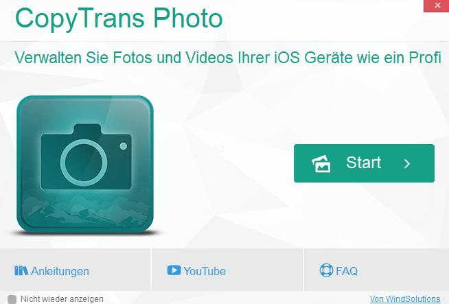 copytrans photo - CopyTrans Photo - iPhone Fotos und Videos übertragen ausprobiert – wir verlosen 5 Lizenzen