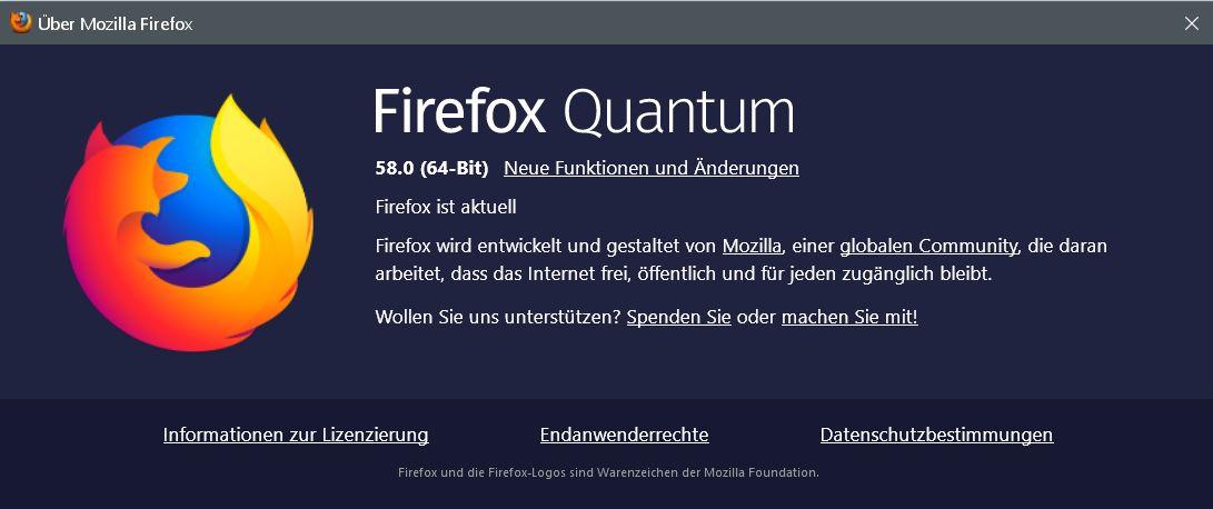 quantum - Firefox Version 58 ist erschienen