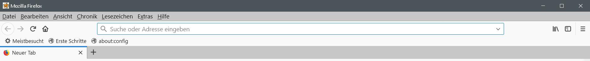reihenfolge neu - Firefox  Menüleisten verschieben