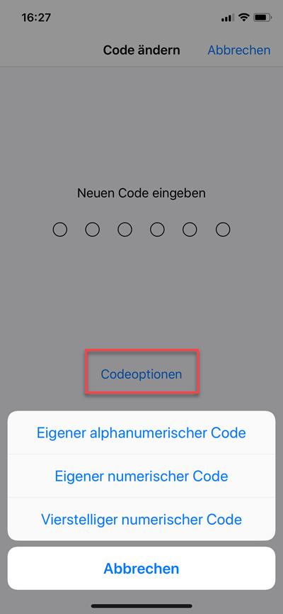 vierstelliger numerischer code eigener alphanumerischer code - Vierstelliger numerischer Code oder alphanumerischer Code beim iPhone oder iPad einrichten