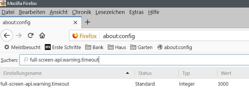 Firefox Vollbildmodus Hinweis deaktivieren 2