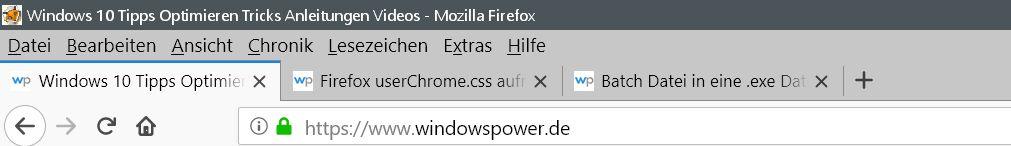 ausgeblendet - Firefox Den Tabtext nicht ausblenden