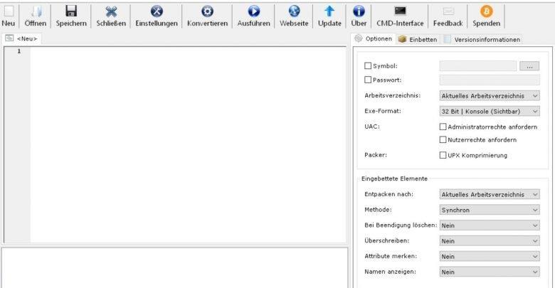 bat to exe startbild 780x405 - Batch Datei in eine .exe Datei umwandeln