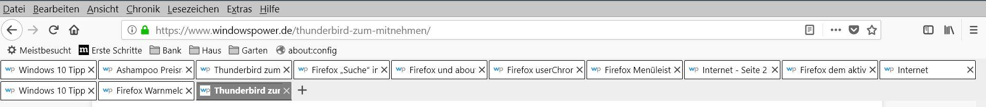 doppelte tableiste - Firefox Mehrzeilige Tableiste