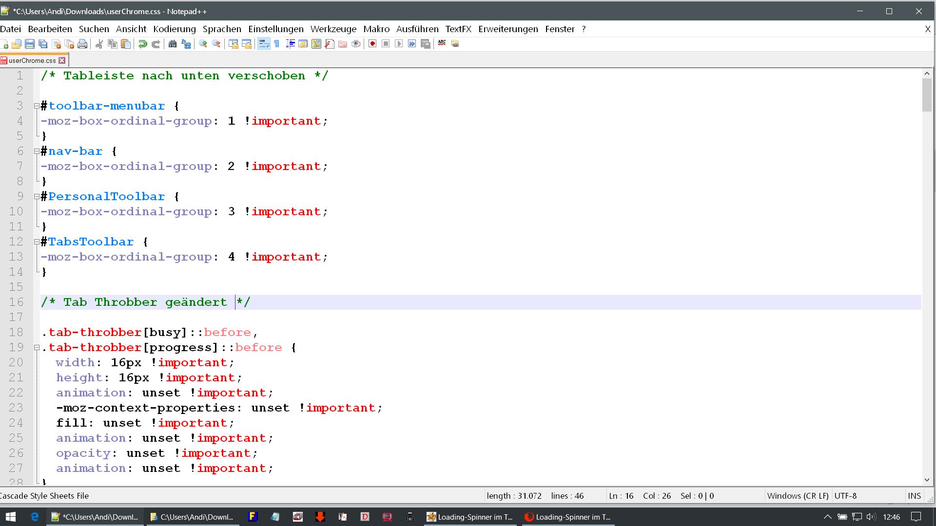 doppelter code - Firefox  Tab Throbber ändern
