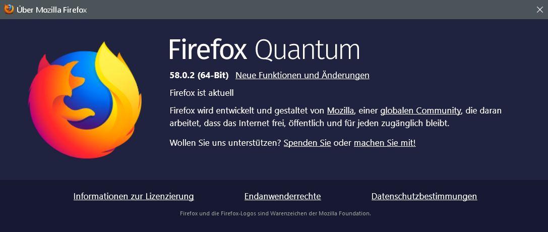 fx 58.0.2 - Firefox 58.0.2 ist erschienen