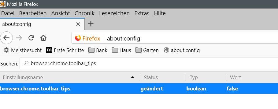 geaenderter wert 1 - Firefox Tooltip im Rechtsklick Kontextmenü deaktivieren