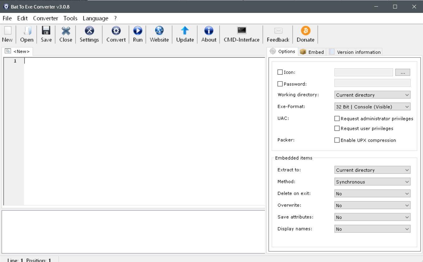 konverter original - Batch Datei in eine .exe Datei umwandeln