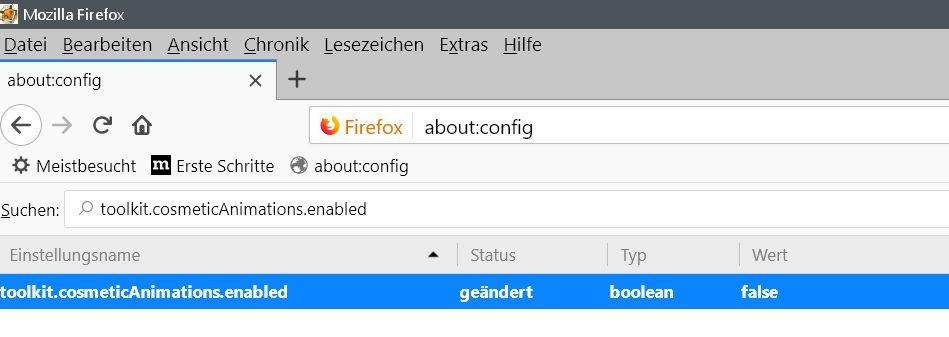 nach umstellung - Firefox  Die blaue Animation im Tab deaktivieren