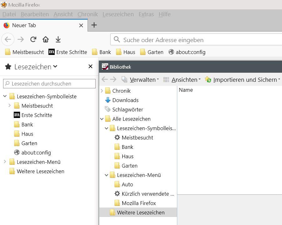 neue gelbe icons - Firefox Den Lesezeichenordnern ein anderes Icon vergeben