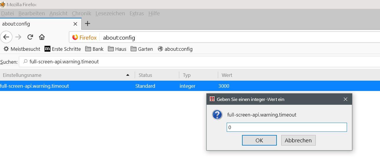 Firefox Vollbildmodus Hinweis deaktivieren 3