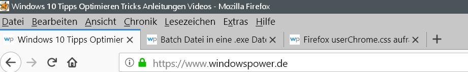 nicht ausgeblendet - Firefox Den Tabtext nicht ausblenden