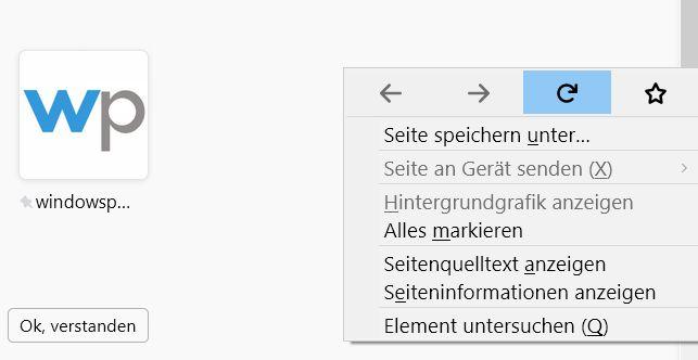 ohne tooltip - Firefox Tooltip im Rechtsklick Kontextmenü deaktivieren