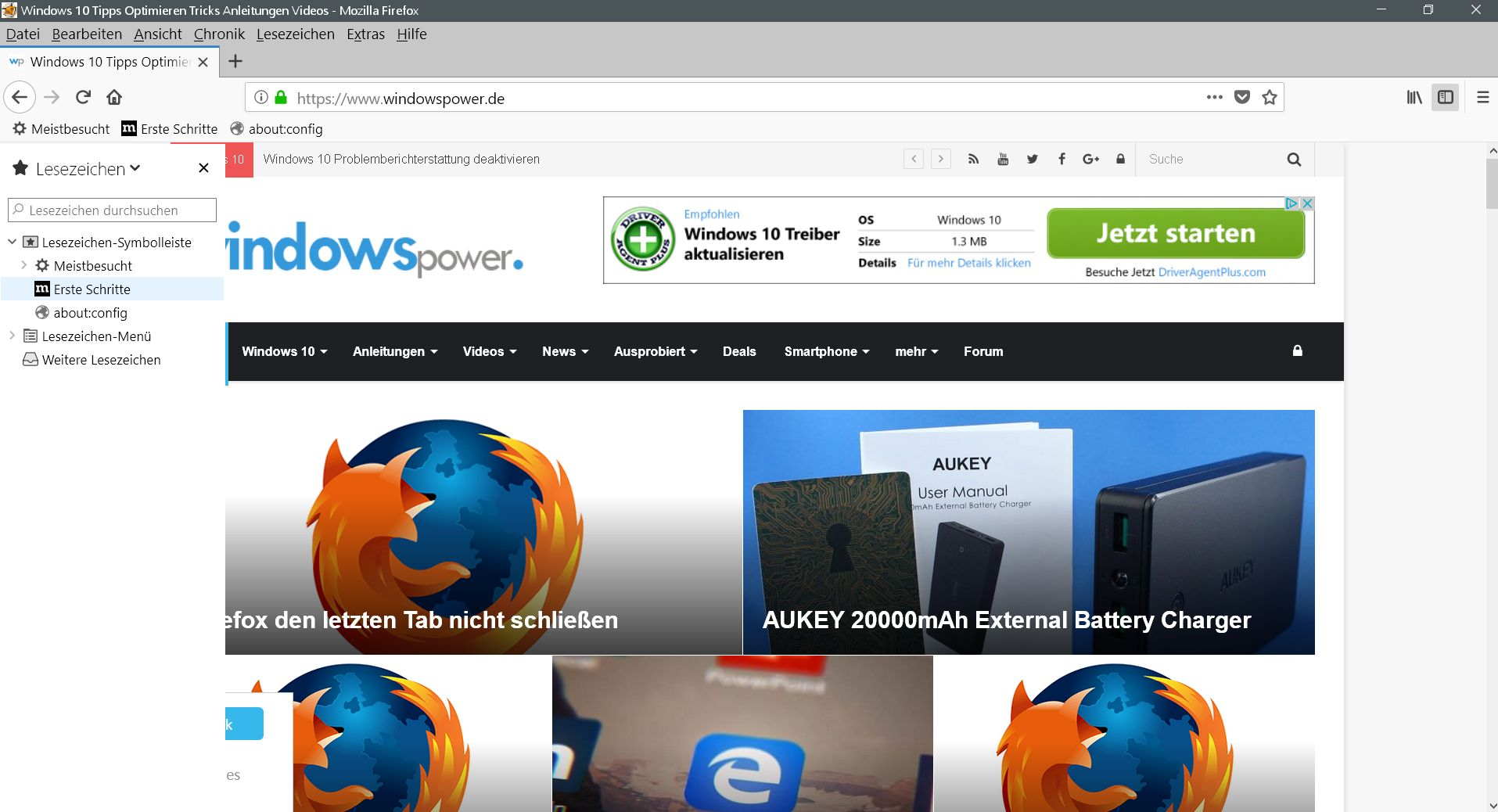 sidebar hover - Firefox  Sidebar per Maushover öffnen