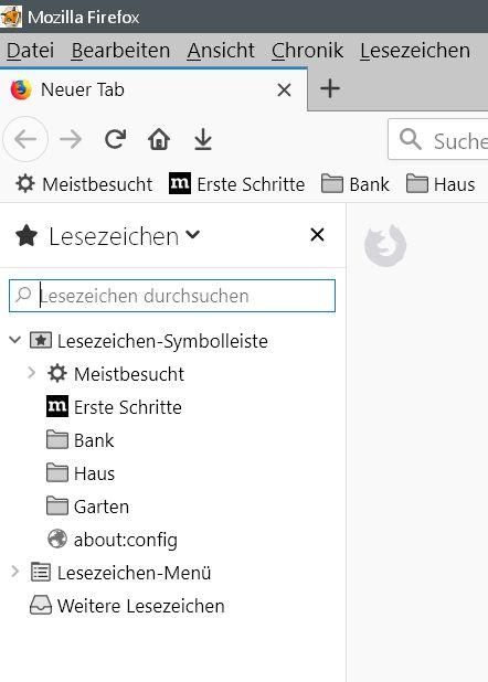 sidebar - Firefox Den Lesezeichenordnern ein anderes Icon vergeben