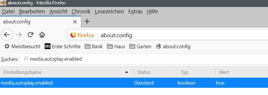 standard 1 - Firefox Autoplay deaktivieren