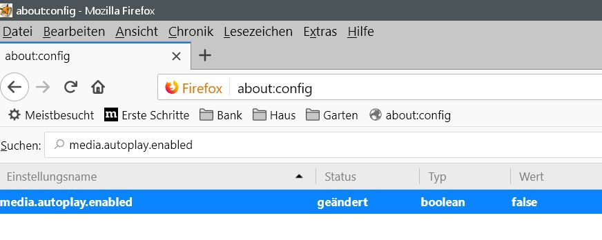 Firefox Video Autoplay Deaktivieren