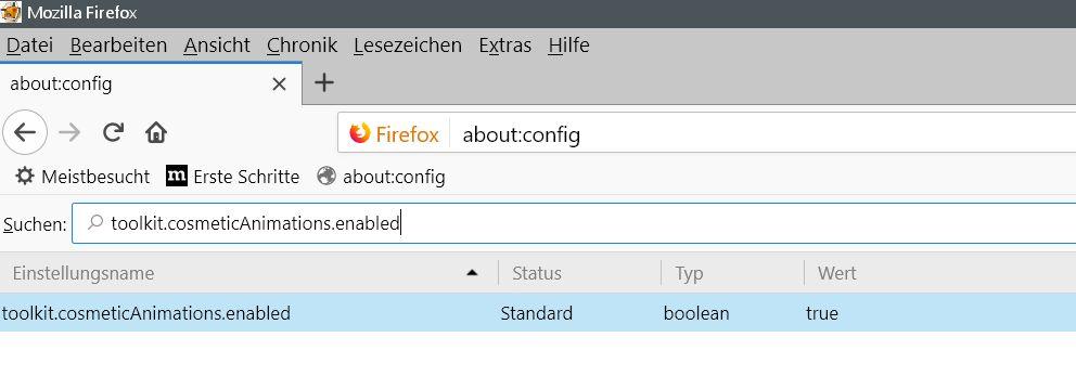 vor umstellung - Firefox  Die blaue Animation im Tab deaktivieren