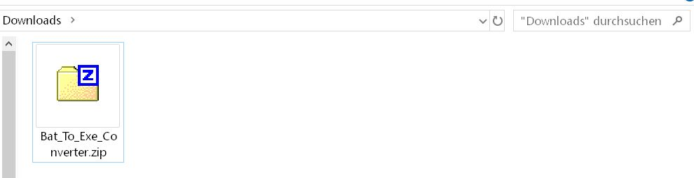 zip im ordner - Batch Datei in eine .exe Datei umwandeln