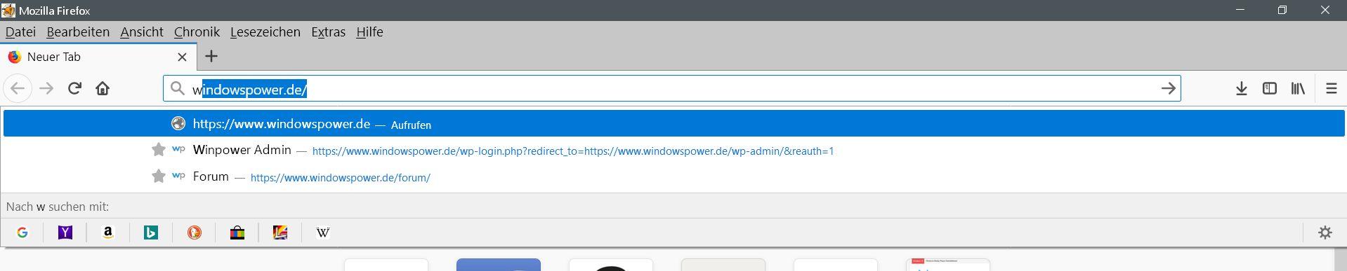 adressleiste vorschlaege - Firefox Die Suchmaschinen Auswahl in der Adressleiste ausblenden