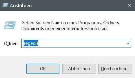 ausfuehren - Windows 10 Öffnen mit.. Einträge im Kontextmenü ändern