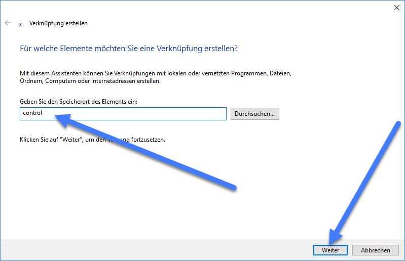 control - Windows 10: Desktop Verknüpfung zur Systemsteuerung erstellen – so geht's