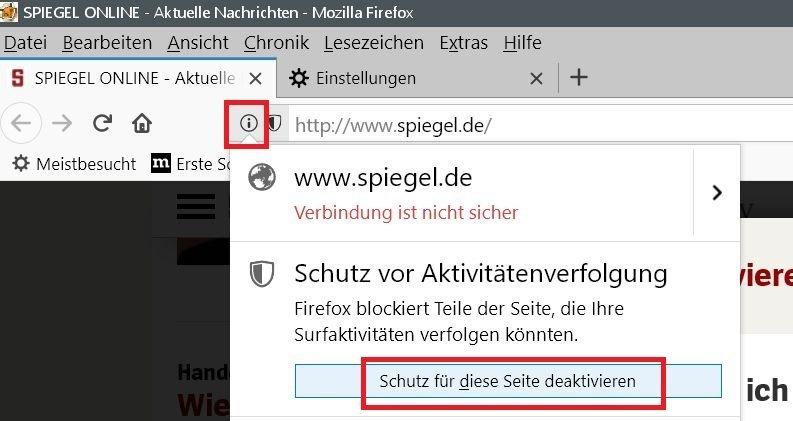 deaktivieren urlbar - Firefox Webseiten melden Bitte Adblocker deaktivieren, obwohl keiner aktiviert ist