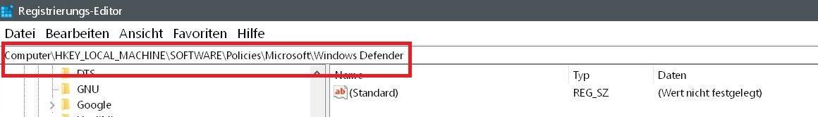 defender suchen - Windows Defender auch mit Malware-Schutz