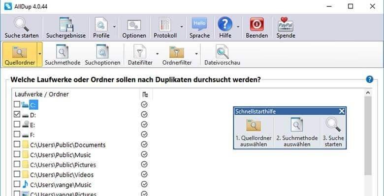 doppelte dateien finden festplatte 780x400 - Doppelte Dateien finden auf dem Computer externe Festplatten USB-Sticks