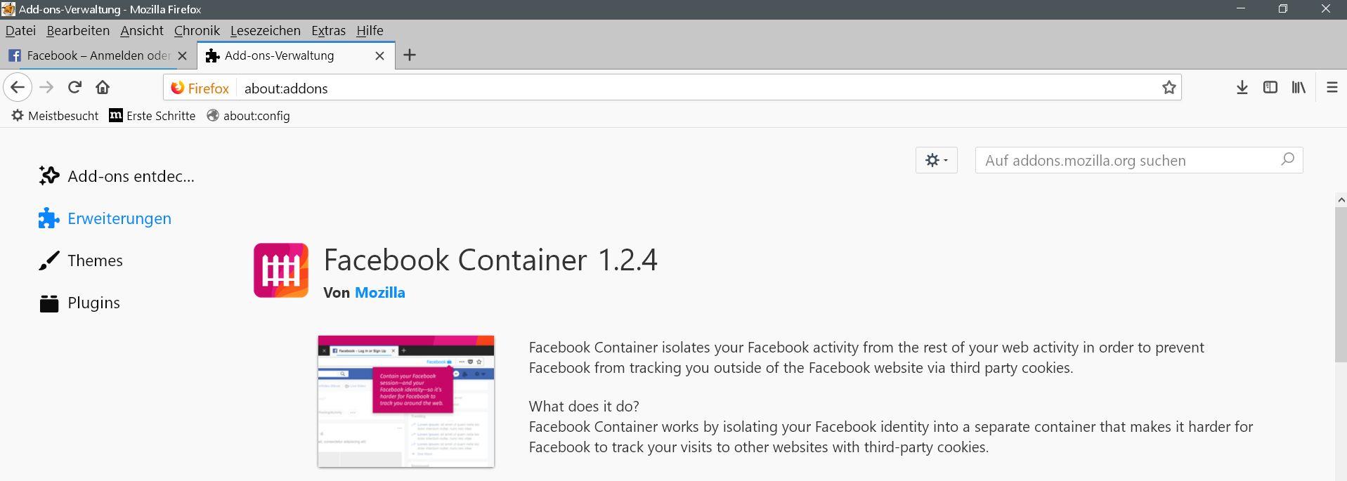 facebook-container-erweiterung