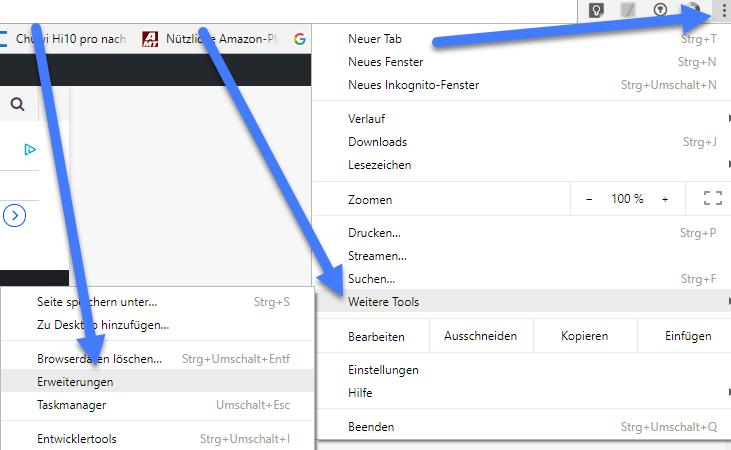 google browser erweiterungen