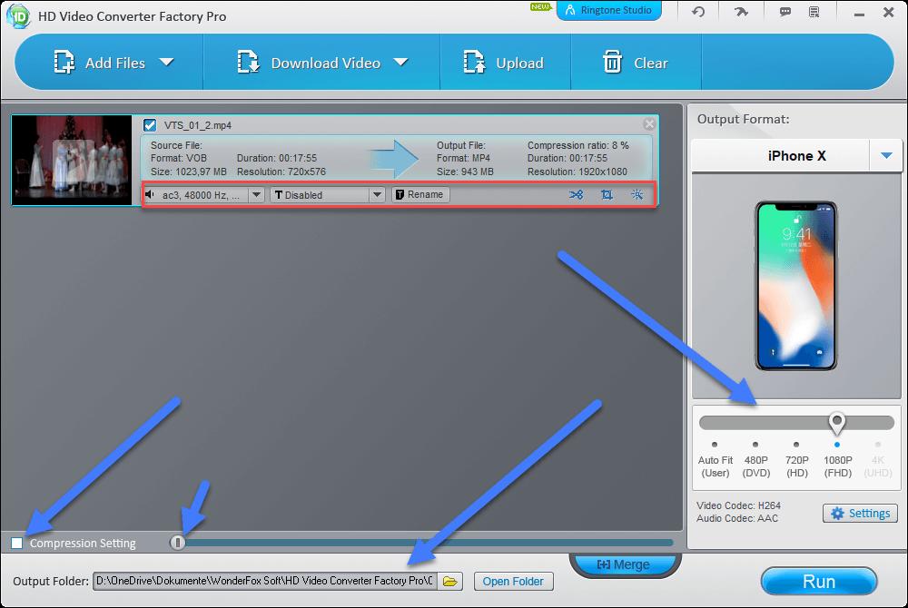 hd video converter factory pro einstellung