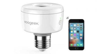 koogeek 390x220 - Koogeek Smart Socket Wi-Fi Aktiviert E27 Glühbirne Adapter für 15,99e statt 34,99€