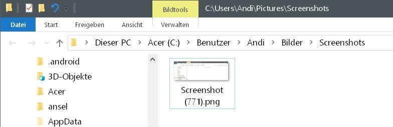 meine screenshot nummer - Windows 10 Screenshots - die Nummerierung zurücksetzen auf 0