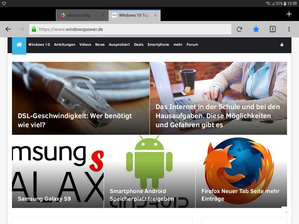 mit bildern - Android Datenvolumen sparen mit Firefox